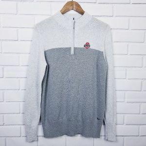 P16 - Nike Golf Mens Gray Ohio State Sweater Large